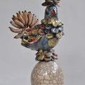 """""""Vogel von Rio"""", 2012, Raku-Keramik"""