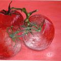 3 Tomaten  40 x 80 cm