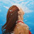 Unter Wasser (2013), 80 x 60 cm, Öl auf Leinwand