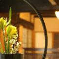 館内のいたるところに生け花が・・・
