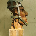 Theme: Mass movement: Title: Plegde of secrecy ( Soldier). Wood and iron,2003l