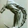 Modell für Gros-Skulptur. 2002. Acrylharz patiniert