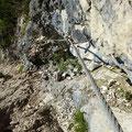 Klettersteig zum lago Sorapis