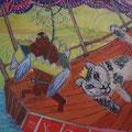 der König unterwegs/Eitempera auf Leinwand / 40 x 40 cm