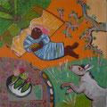 Garten Eden/Eitempera auf Leinwand / 40 x 40 cm