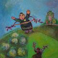 The winner is...  /Eitempera auf Leinwand / 40 x 40 cm