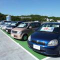 屋上駐車場には中古車も展示。眺めも良いですよ!
