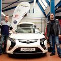 Der JPRS-Partner Opel Kuhl präsentiert das neue Elektro-Hybridfahrzeug Opel Ampera