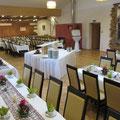 Hochzeit im Saal, ca. 160 Personen