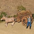 Françoise der Bauer ist in Gedanken versunken. Soll er oder soll er nicht sich Gedanken widmen seinen manchmal etwas störrischen Esel durch eines der aufkommenden Automobile zu ersetzen.