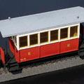 Personenwagen der Tramways de la Sarthe in der Spur 0e
