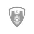 Aktions-Logo für Volkswagen Classik, Merchandising – infragrau, gute Gestaltung.
