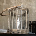 Qty. 25 Shorter Wicker/Glass Lanterns