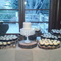 Ceremony cake and cupcake display