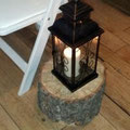 Black metal lanterns with design & glass - Qty.16