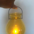Qty. 25 Gold hanging Glass Lanterns - LDS