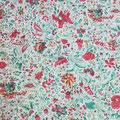 Vintage flowers rouge/vert