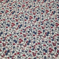 Vintage flowers rouge bordeaux/bleu