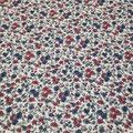 Vintage flowers rouge bordeaux/bleu