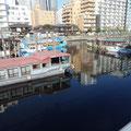 品川浦の船溜まり