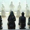 Echiquier complet en plâtre céramique