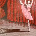 Ballerine rose acrylique sur toile (46 x 33 cm)