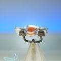 """172051    Ring  mit  antikem Karneol (Vogelmotiv  """"Rebhuhn"""") sassanidisch,  5. - 6. Jh.     Silber und Acrylglas"""