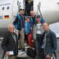 Abflug in Deutschland