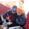 Essen mit Stäbchen in China