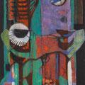 <b>La Pergola, 1955</b><br />66 x 30 inches, oil on canvas<br />Private Collection