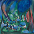 <b>Still Life and Landscape, 1956</b><br />48 x 55 1/8 inches, oil on canvas<br />The Museum of Modern Art, New York, Inter-American Fund
