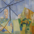 <b>Los Papalotes, 1950</b><br />37 x 40 inches, oil on canvas<br />Private Collection