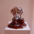"""""""Die drei Grazien und das Gehirn"""", 2010 - 2011 Keramik, Porzellan, Glasur, 26 x 26 x 24 cm"""