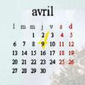Evénements du mois d'avril