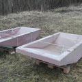4 vorgefertigte Betongewässer werden zusätzlich eingesetzt, sie halten dicht und sind leicht zu reinigen (Bild: K. Weddeling)