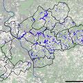 Vertragsflächen im Kreisgebiet (blau; ca. 1400 ha, ca. 1600 Einzelschläge mit ca. 180 Betrieben, Stand 8/2018)