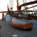 an unserem Liegeplatz in Rostock