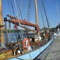 Noch allein im Hafen von Nysted