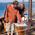 Pelle und Uwe suchen den Weg zu den Seehundbänken