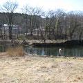 2010年3月22日、鐘ヶ淵発電所取水口