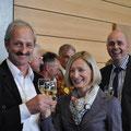 Fähnrich Hans Baumeler, Fahnengotte Ruth Huber, Fahnengötti Armin Bühler