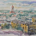 Augsburg Hbf, Blick vom IntercityHotel
