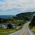 Küstenstraße auf der Gaspesie