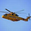 Hubschrauber der Wasserwacht über Peggys Cove
