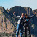 Big Bend NP, Lost Mine Trail, Petra und Bettina am Ziel