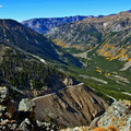 vom Beartooth Pass hinunter zum Caster National Forest