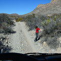 Big Bend NP, Old Ore Road, Bettna macht den Weg frei