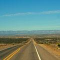 auf dem Weg zum Guadalupe Mountains NP
