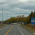 Grenzübertritt von den USA nach Canada