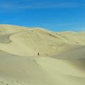 Eureka Sand Dunes, unser Ziel, die äußerste rechte Sanddüne